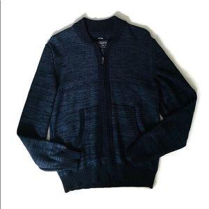 Men's blue sweater zip up NWT 26
